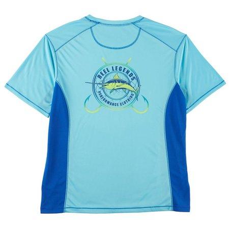 Reel Legends Mens Reel-Tec Marlin Code T-Shirt