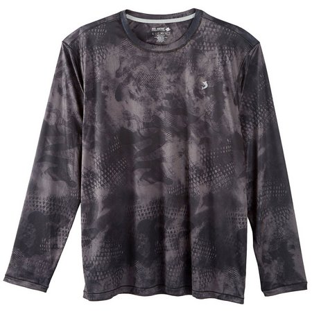 Reel Legends Mens Reel-Tec Dark Camo Scale Shirt