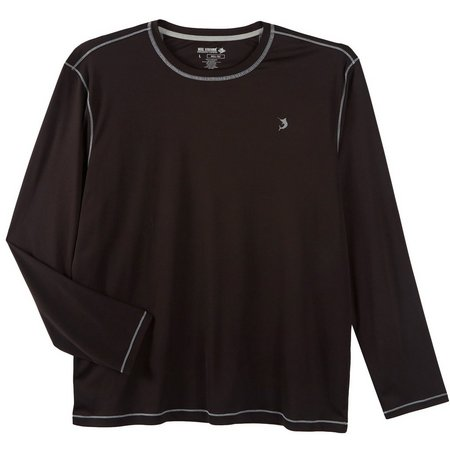 Reel Legends Mens Reel-Tec Black Long Sleeve Shirt