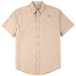 Reel Legends Mens Short Sleeve Mariner Shirt