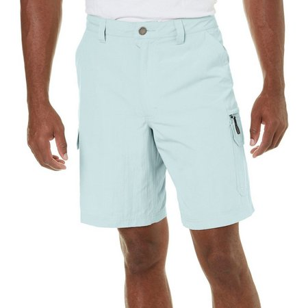 Reel Legends Mens Tri Blend Cargo Shorts