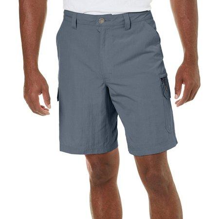 Reel Legends Mens Tri Blend Cargo Shorts