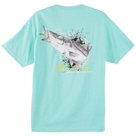 Reel Legends Mens Black & White Snook T-Shirt