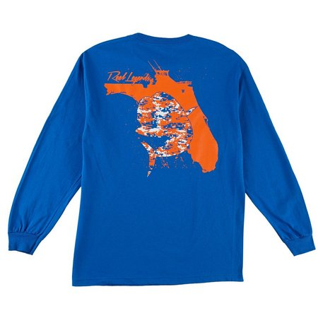 Reel Legends Mens Royal Fish Bait T-Shirt