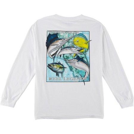 Reel Legends Mens Offshore Slam Long Sleeve T-Shirt