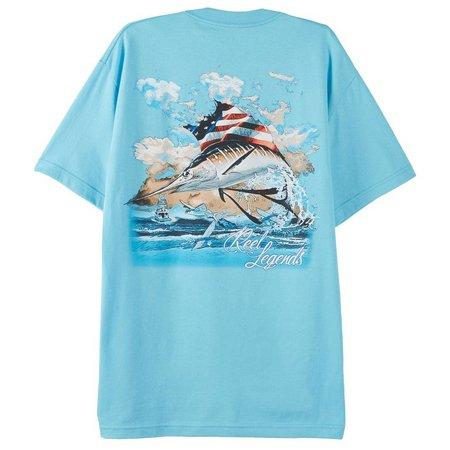 Reel Legends Mens Americana Sailfish T-Shirt