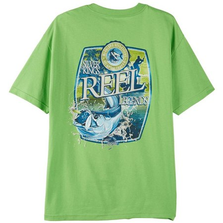 Reel Legends Mens Silver King Label T-Shirt