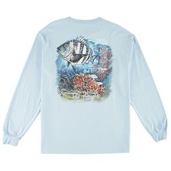 Reel Legends Mens Sheephead Long Sleeve T-Shirt
