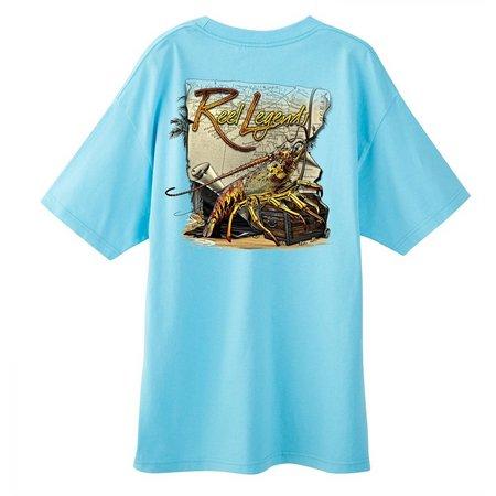 Reel Legends Mens Lobster Map T-Shirt