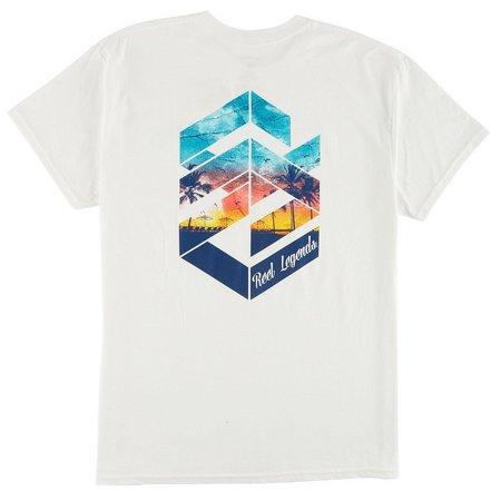 Reel Legends Mens Sunset Lifestyle T-Shirt