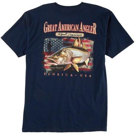Reel Legends Mens Great American Angler T-Shirt