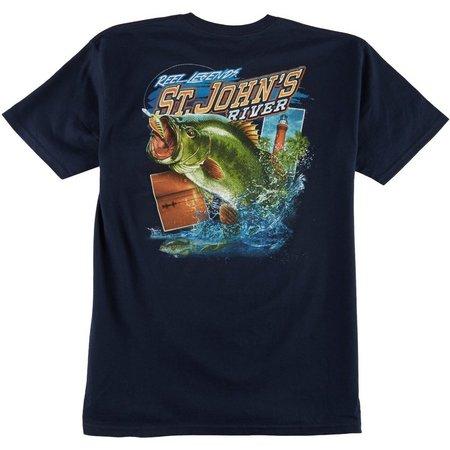 Reel Legends Mens St. John's River T-Shirt