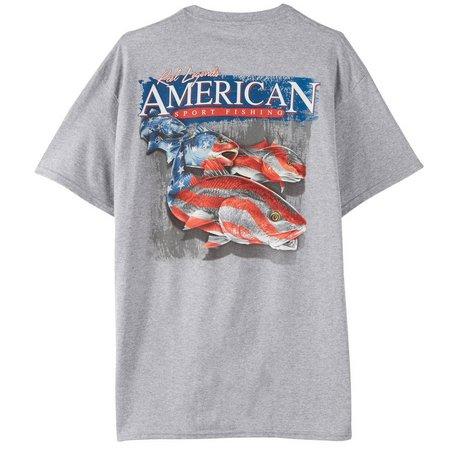 Reel Legends Mens American Sport Fishing T-Shirt