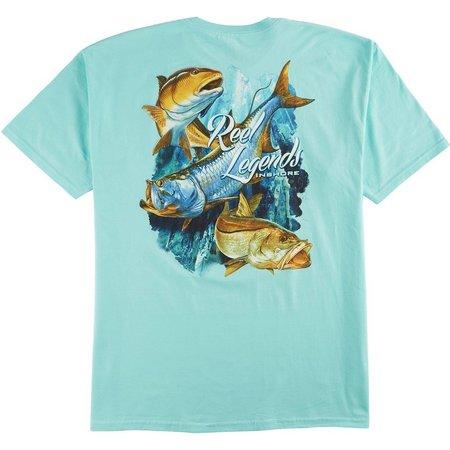 Reel Legends Mens Mint Inshore Slam T-Shirt