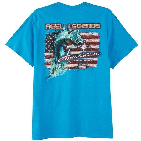 Reel Legends Mens American Sportsman T-Shirt