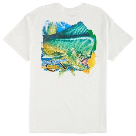 Reel Legends Mens Mahi Crop Circles T-Shirt