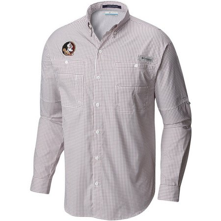 FLorida State Mens Long Sleeve Gingham Super Tamiami