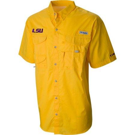 LSU Tigers Mens Bonehead Shirt by Columbia