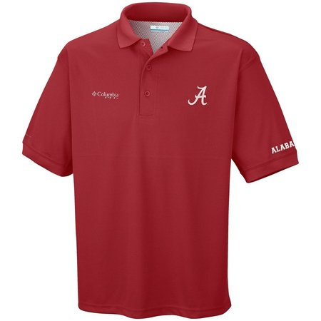 Alabama Mens Perfect Cast Polo Shirt By Columbia
