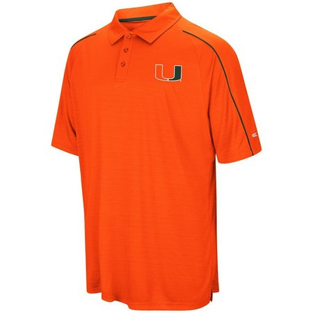 Miami Hurricanes Mens Setter Polo Shirt