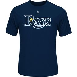 Tampa Bay Rays Mens Wordmark Short Sleeve T-Shirt