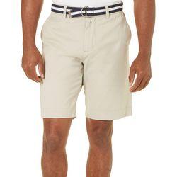 Tackle & Tides Mens Belted Solid Shorts