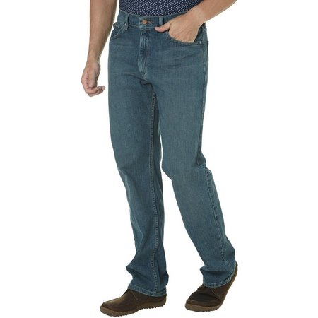 Genuine Wrangler Mens Relaxed Fit Jeans