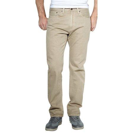 Levi's Mens 505 Regular Fit Khaki Pants