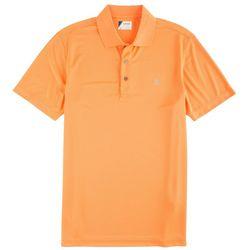 IZOD Golf Mens Solid Grid Performance Polo Shirt