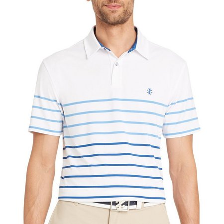 IZOD Golf Mens Stripe Polo Shirt