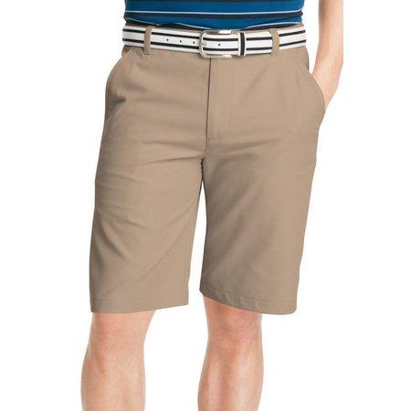 IZOD Golf Mens Core Performance Flat Front Shorts