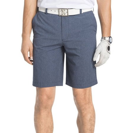 IZOD Golf Mens Heathered Flat Front Shorts