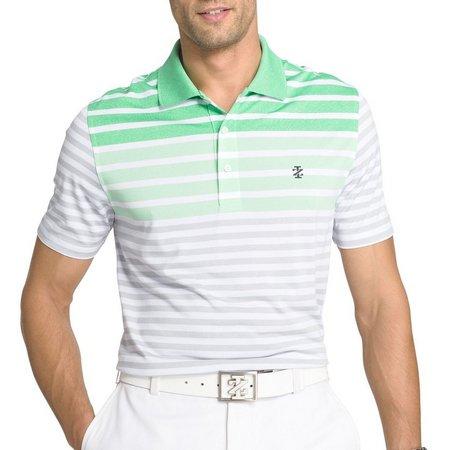 IZOD Golf Mens Longleaf Engineer Stripe Polo Shirt