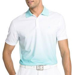 IZOD Golf Mens Aqua Dip Dye Ombre Polo