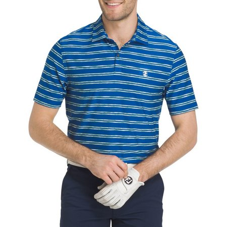 IZOD Golf Mens Space Dye Feeder Striped Polo