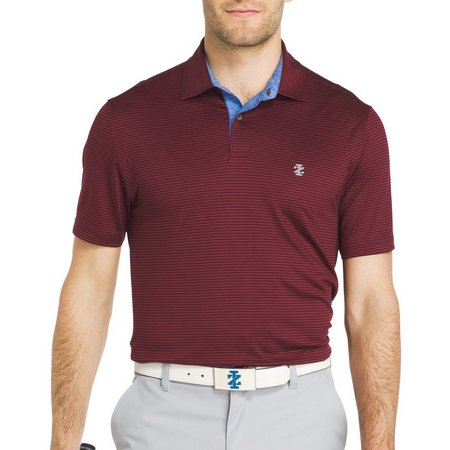 IZOD Golf Mens Swingflex Striped Polo Shirt