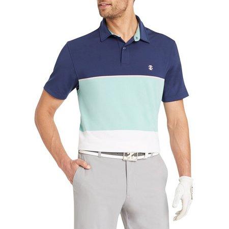 IZOD Mens Colorblock Prep Short Sleeve Polo Shirt