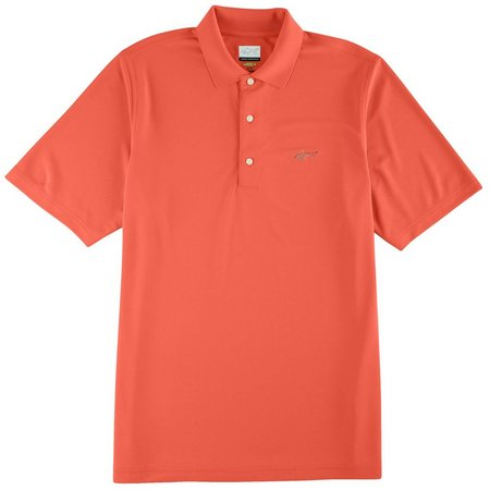 New! Greg Norman Mens Solid Polo Shirt