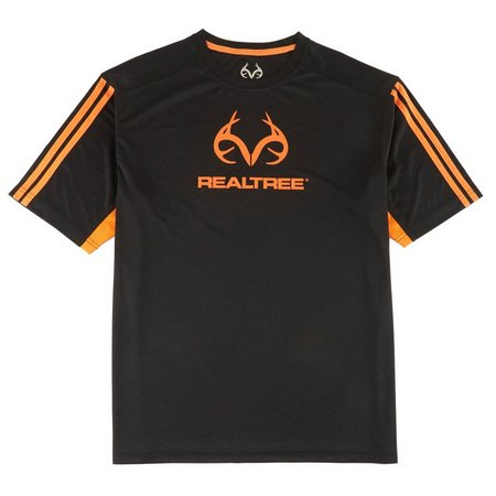 New! Realtree Mens Black Real Precision Logo T-Shirt