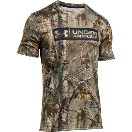 Under Armour Mens Camo Tag Sleeve T-Shirt
