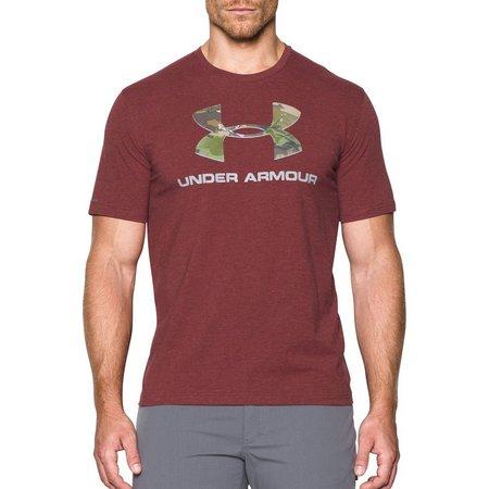 Under Armour Mens Cardinal Camo Fill Logo T-Shirt