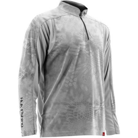 Huk Mens Trophy Kryptek Yeti Quarter Zip Sweater