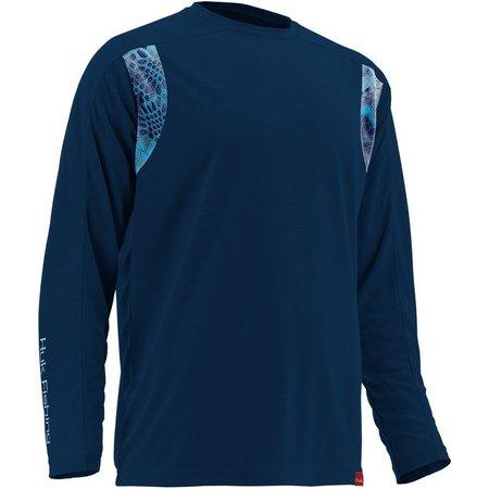 Huk Mens Navy Trophy Long Sleeve T-Shirt