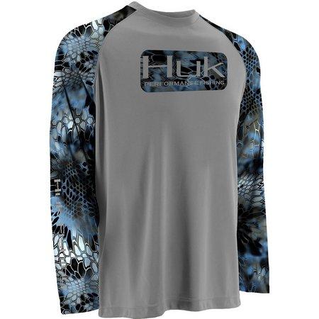 Huk Mens Neptune Color Blocked Long Sleeve T-Shirt