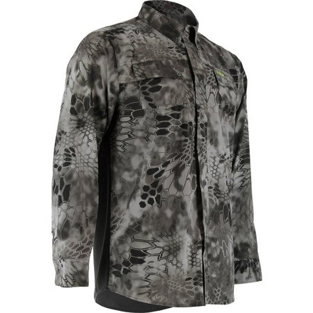 Huk Mens Red Kryptek Phenom Raid Long Sleeve