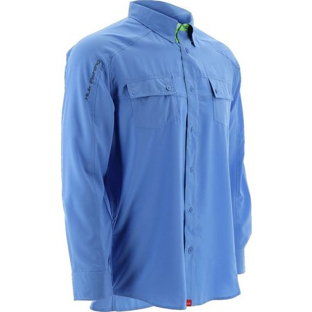 Huk Mens Next Level Blue Long Sleeve Woven