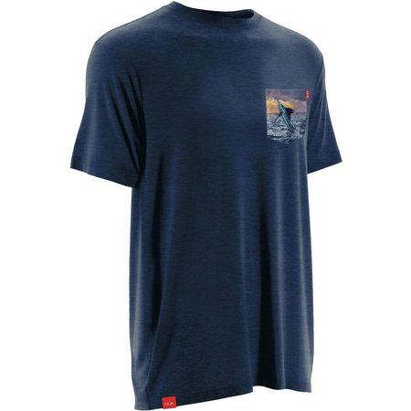 New! Huk Mens KScott Short Sleeve Pocket T-Shirt