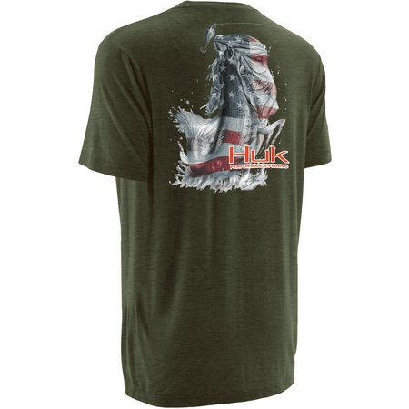 Huk Mens KC Scott American Bass T-Shirt