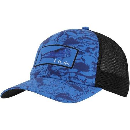 Huk Mens KC Scott Mahi Patch Hat