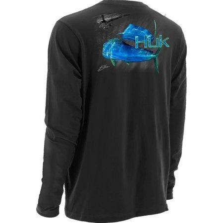 Huk Mens KScott PF Happy Hour Long Sleeve
